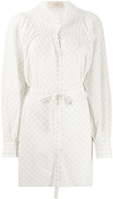 Maison Flaneur Tied-Waist Lose-Fit Shirt
