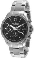 Peugeot Mens Stainless Steel Link Bracelet Watch 1046SBK