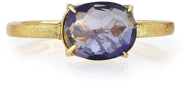 Marco Bicego 18k Oval Iolite Solitaire Ring, Size 7