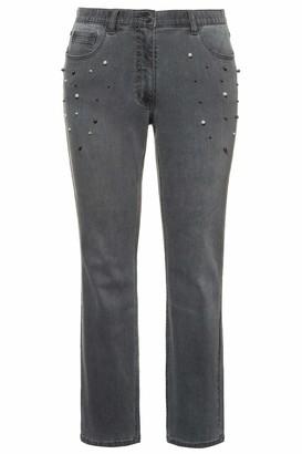 Ulla Popken Women's Jeans Mit Perlenbesatz Sammy Slim
