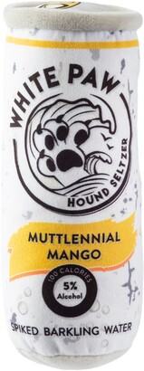 Haute Diggity Dog White Paw Muttlennial Mango Plush Dog Toy