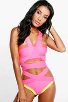 Boohoo India Boutique Bandage Cut Out One Piece