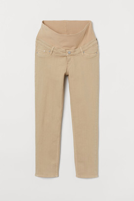 H&M MAMA Straight Ankle Jeans - Beige