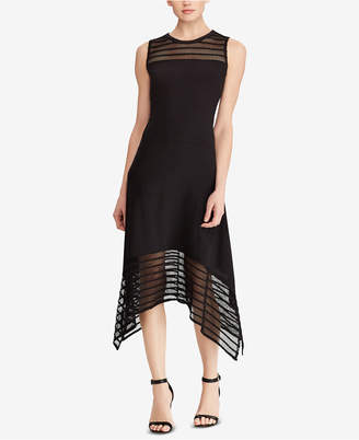 American Living Mesh Jersey Midi Dress