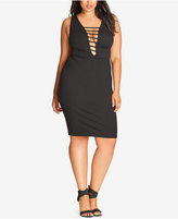 City Chic Trendy Plus Size Strappy Bodycon Dress