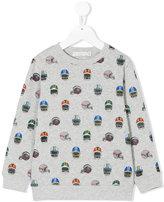 Stella McCartney Helmet print sweatshirt - kids - Cotton - 5 yrs