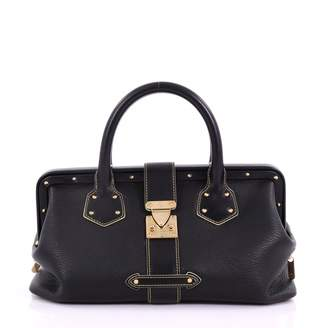 Louis Vuitton Black Leather Handbag