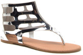 Qupid Archer Cut-Out Gladiator Thong Sandal