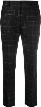 Piazza Sempione Plaid-Print Cropped Trousers