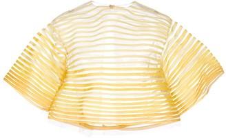 Oscar de la Renta embroidered tulle blouse