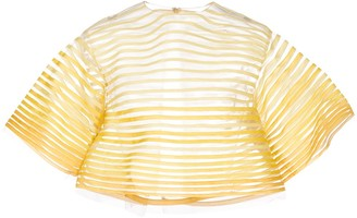 Oscar de la Renta sheer striped top