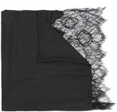 Valentino Garavani Valentino lace-paneled plissé scarf - women - Modal/Cashmere/Viscose/Polyamide - One Size