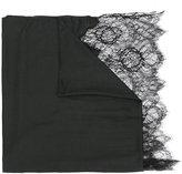 Valentino Garavani Valentino lace-paneled plissé scarf - women - Polyamide/Modal/Viscose/Cashmere - One Size