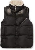 Moncler - Shearling-trimmed Quilted Shell Down Gilet