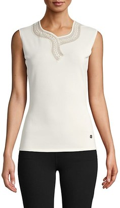 Roberto Cavalli Embroidered Sleeveless Top