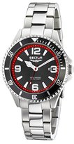 Sector Men's Quartz Watch with Black Dial Analogue Display and Silver Stainless Steel Bracelet R3253161002