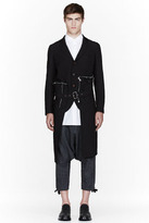 Comme des Garcons Black zipper-trimmed trench coat