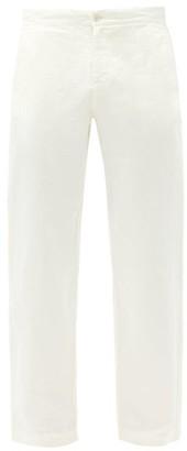 Orlebar Brown Telford Straight-leg Cotton-blend Trousers - Cream