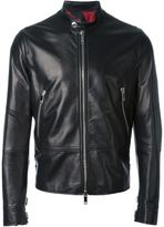 Valentino leather jacket - men - Cotton/Lamb Skin/Cupro/Lyocell - 50