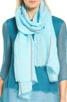 Eileen Fisher Women's Scarf Stripe Organic Linen Blend Scarf