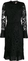 Tory Burch lace-pattern fitted dress
