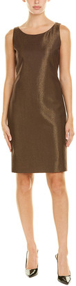 Akris Silk-Lined Wool-Blend Sheath Dress