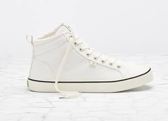 Cariuma OCA High Stripe White Canvas Sneaker Women
