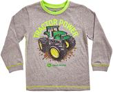 John Deere Heather Gray 'Tractor Power' Crewneck Tee - Boys