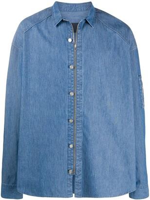 Juun.J Denim Zip-Up Shirt