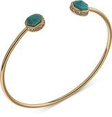 Lauren Ralph Lauren Gold-Tone Turquoise-Look Cuff Bracelet