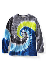 Classic Little Boys Tie Dye Tee-Dark Bay Blue Swirl