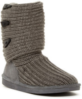 BearPaw Knit & Genuine Sheepskin Lined Boot