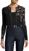 Tracy Reese Zip Front Knit Cotton Cardigan