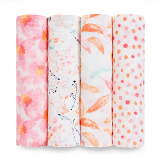 Aden Anais aden + anais Classic Swaddle 4 Pack Petal Blooms
