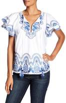 Parker Janis Embrodiered Tassel Blouse
