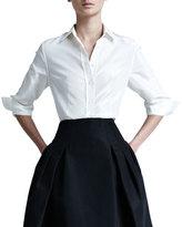 Carolina Herrera Silk Taffeta Shirt