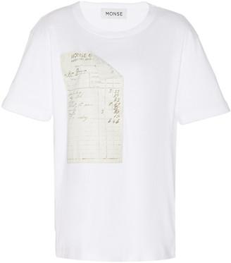 Monse Appliqued Modal-Cotton T-Shirt