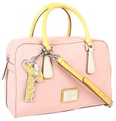 GUESS Leandra Box Satchel (Pink Multi) - Bags and Luggage