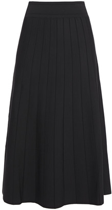 CASASOLA Pleated Stretch-knit Midi Skirt