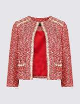 Marks and Spencer Printed Open Front Blazer