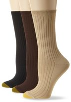 Gold Toe Women's Softwear Dress Rib 3 Pair Socks