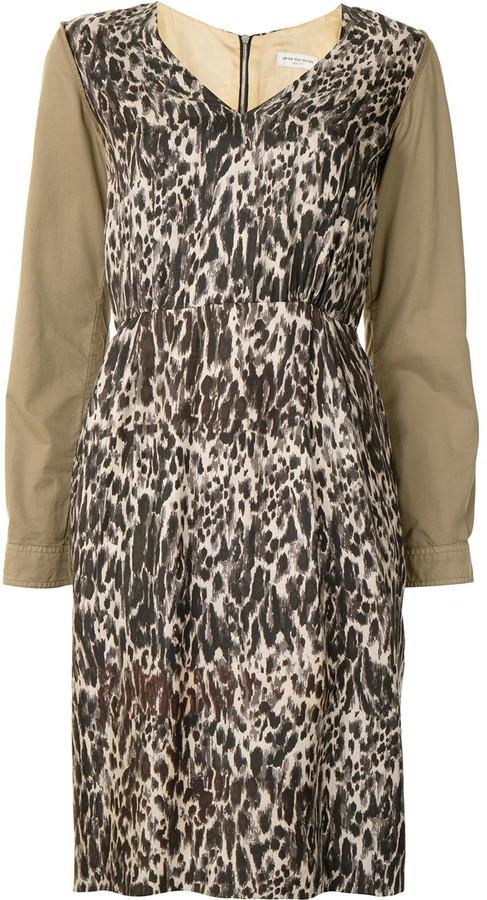 Dries Van Noten Pre-Owned Leopard Print Dress