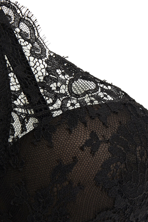 Thumbnail for your product : I.D. Sarrieri Madeleine Stretch-chantilly Lace And Tulle Underwired Push-up Bra