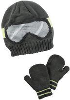 Carter's Baby Boy Ski Goggles Beanie Hat & Mittens Set