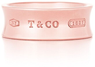 Tiffany & Co. 1837TM ring in Rubedo metal