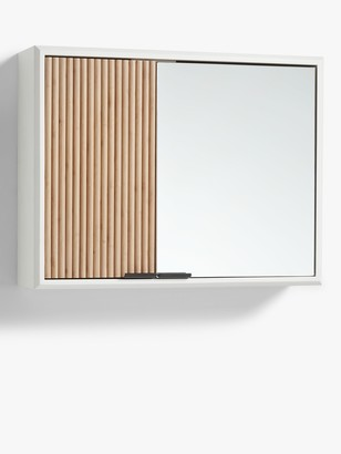John Lewis & Partners House by Ridge Double Mirrored Bathroom Cabinet, White