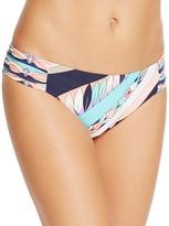 Trina Turk Electric Wave Shirred Bikini Bottom