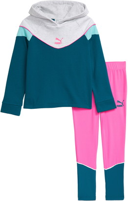 Puma Colorblock Hoodie & Leggings Set
