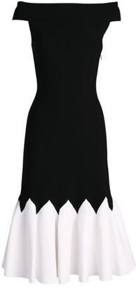 Alexander McQueen Off-The-Shoulder Two-Tone Dress