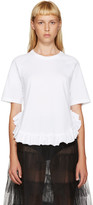 Simone Rocha White Ruffled T-Shirt